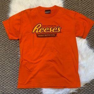 Reeses Orange Graphic Tshirt Tee Size Large